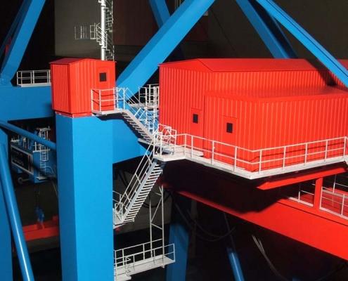 Макет контейнерного крана