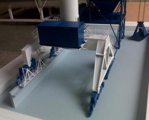 Модель портового крана для перевалки сыпучих грузов